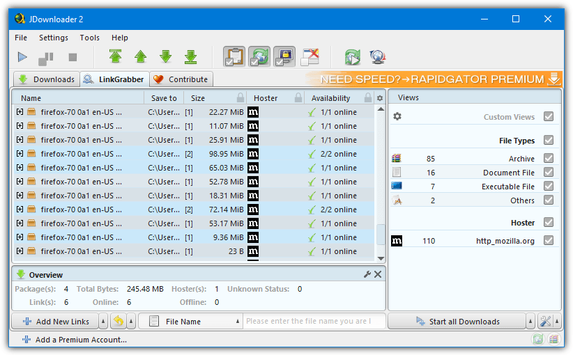 jdownloader ссылка граббер