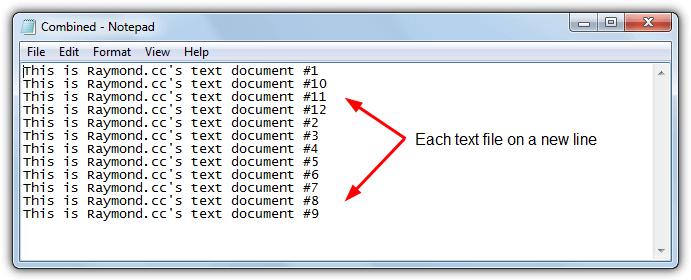 Совместные текстовые файлы в отдельных строках