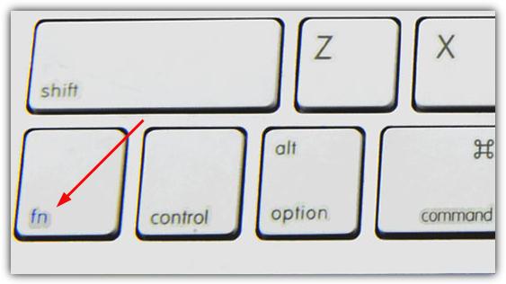 функциональная клавиша для ноутбука