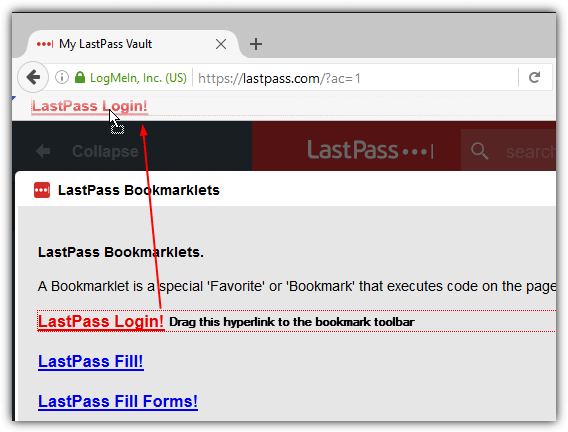 Lastpass Bookmarklets