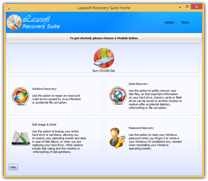 Lazesoft записать CD USB-диск