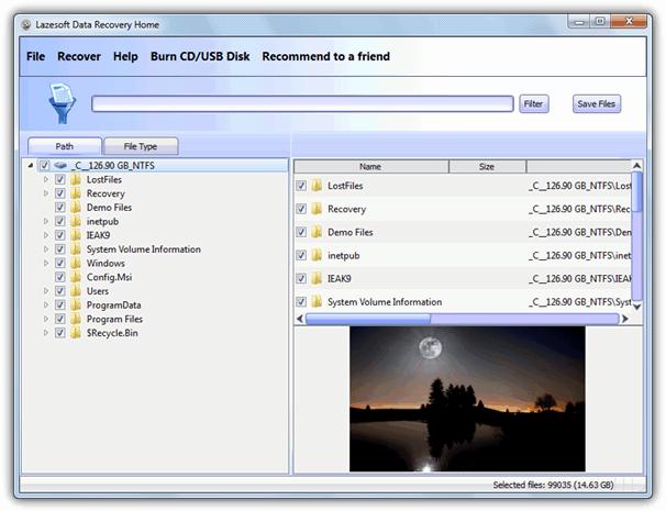 LazeSoft Data Recovery Home / Бесплатно