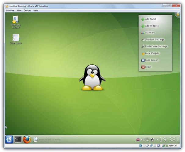 Slax Linux в виртуальной коробке USB
