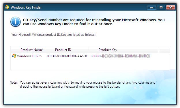 liveboot найти ключ Windows