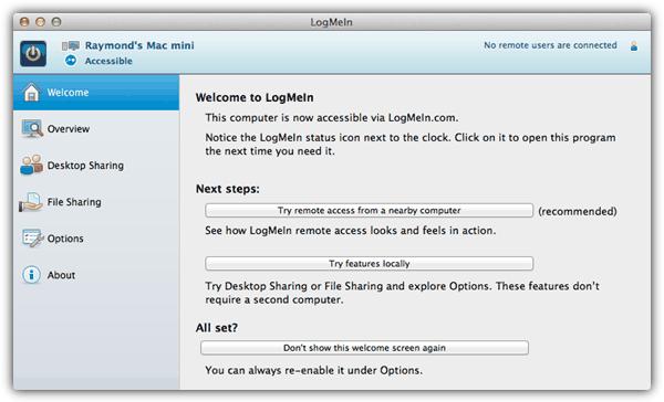 LogMeIn Бесплатный Mac