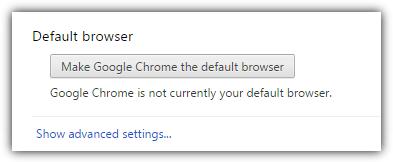 сделать браузер Chrome по умолчанию