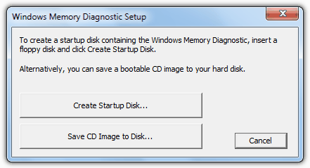 Настройка диагностики памяти Windows
