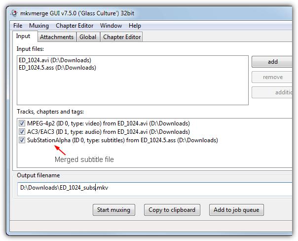 объединенный файл субтитров