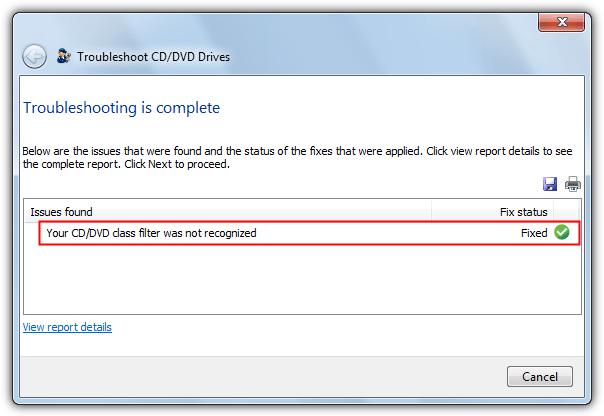 исправлен фильтр Microsoft Fixit