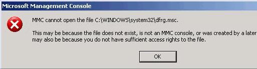 MMC не может открыть файл C:  Windows  system32  dfrg.msc