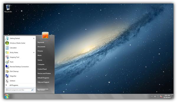 OSX Mountain Lion тема