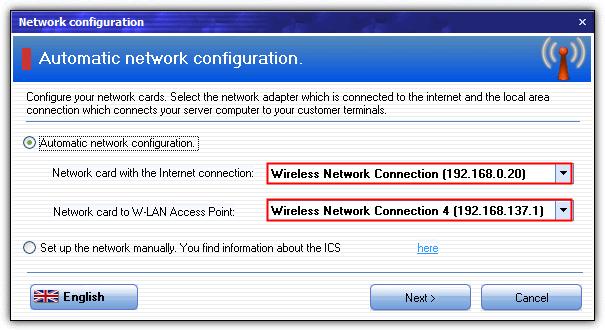 Конфигурация сети myhotspot ics