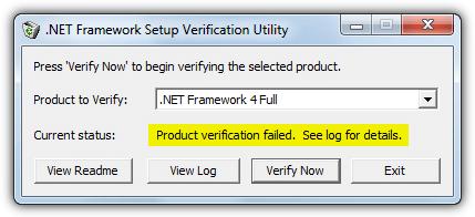 Утилита проверки настроек .NET Framework
