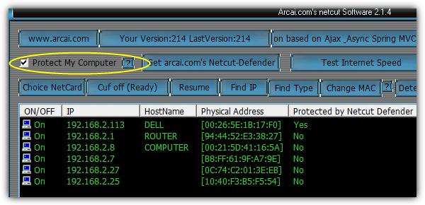 Netcut защитить мой компьютер