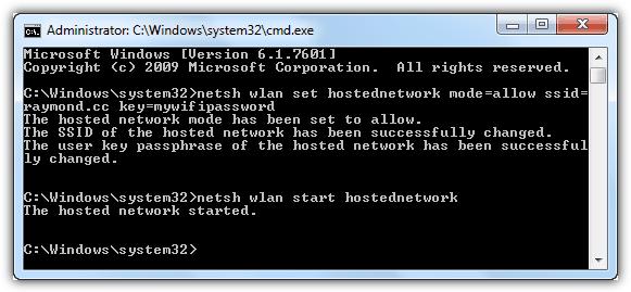 netsh share wireless
