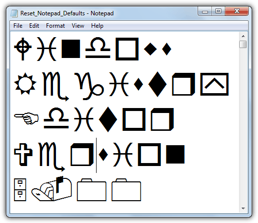 Шрифт Windows Webdings