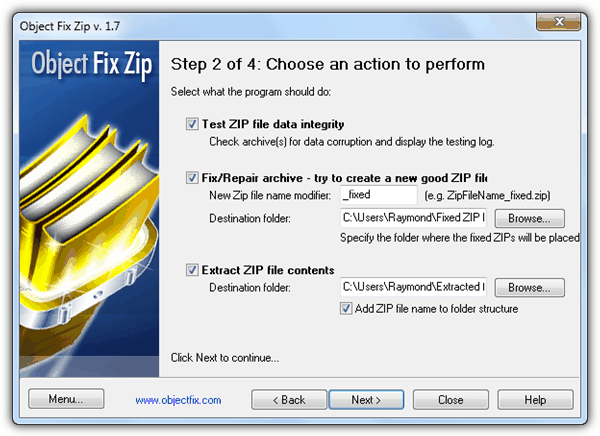 Объект Fix Zip