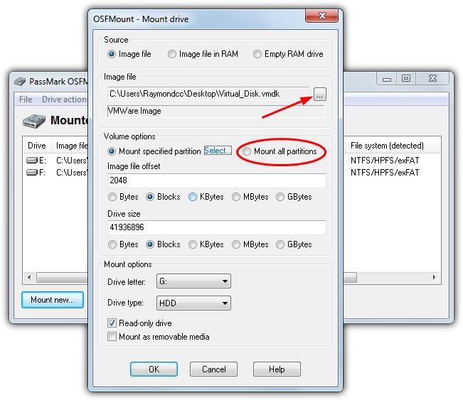 виртуальный диск osfmount