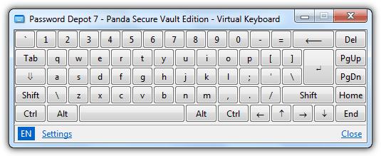 Panda Antivirus Виртуальная клавиатура