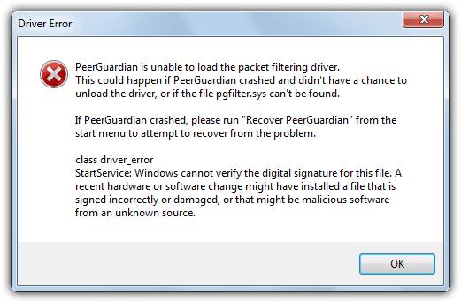 Windows не может проверить цифровую подпись для этого файла