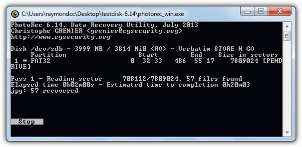 PhotoRec режим восстановления изображений