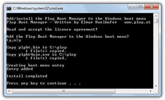 добавить plop в меню загрузки Windows