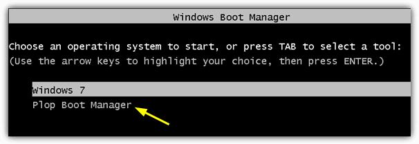 Диспетчер загрузки Windows Plop