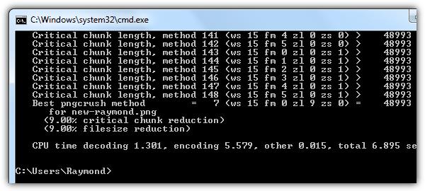 """advpng """"src ="""" https://img.raymond.cc/images/advpng.png """"/></p> <p>advpng является частью AdvanceCOMP, которая содержит несколько бесплатных утилит для повторного сжатия файлов PNG, ZIP, MNG и GZ. advpng не обновлялся с 2005 года, но скорость и результаты сжатия вас удивят. Старые машины с более медленными техническими характеристиками занимают немного больше времени, а новый многоядерный процессор занимает всего секунду, чтобы получить потрясающие результаты.</p> <p>Команда максимального сжатия advpng:</p> <p>advpng.exe -z4 file.png</p> <p><strong>Скачать AdvanceCOMP</strong></p> <p>2. <strong>OptiPNG</strong></p> <p><img width="""