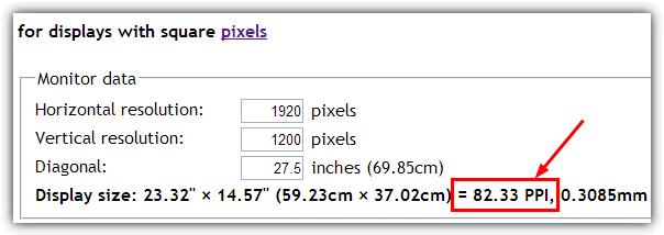 Рассчитать и показать PPI