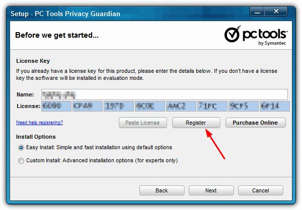 введите регистрационную информацию опекуна конфиденциальности