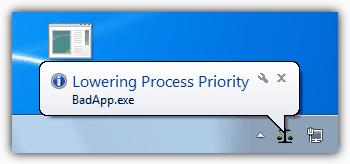 Снижение приоритета процесса