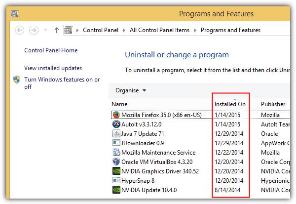 программы и функции, установленные на