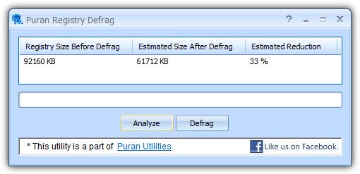 Puran Registry Defrag