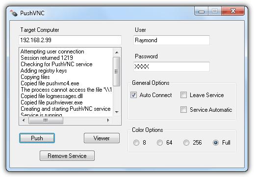 PushVNC XP