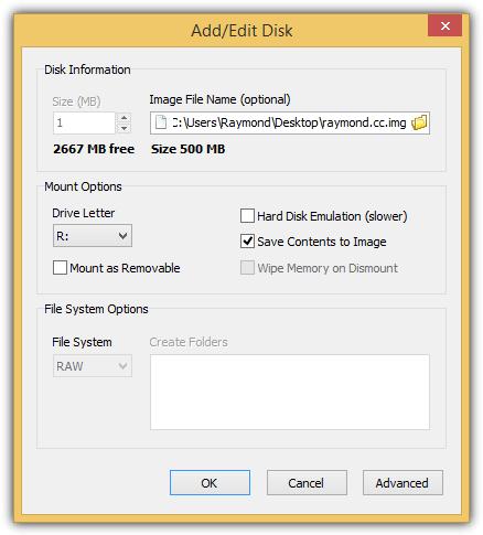 ramdisk добавить диск