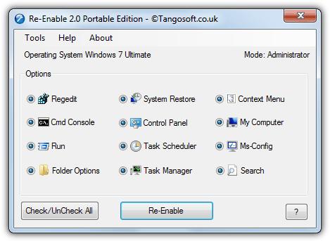 Tangosoft Re-enable