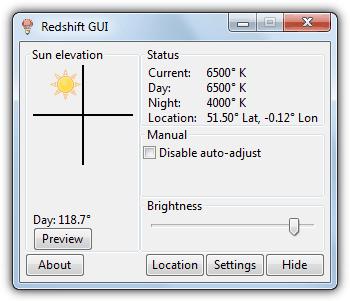 RedShift GUI