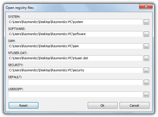 Registryviewer открытые файлы