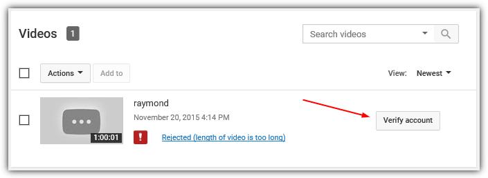 отклоненная длина видео слишком велика