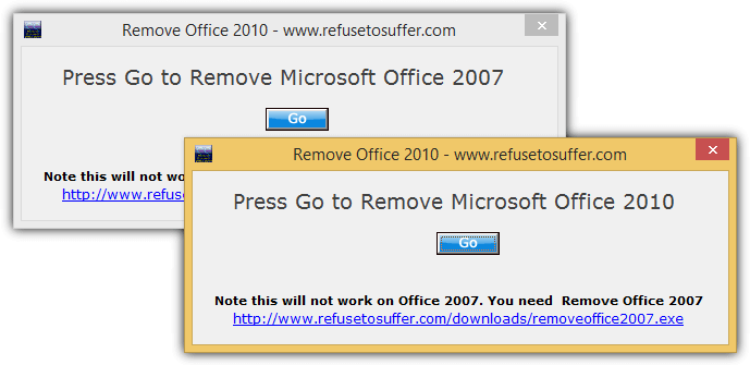 удалить офис 2007 2010