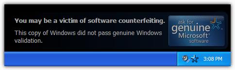 Эта копия Windows не прошла проверку подлинности Windows.