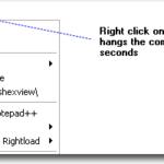 Исправление очень медленного или зависания при щелчке правой кнопкой мыши по файлу или папке