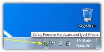 Восстановление безопасно удалить оборудование