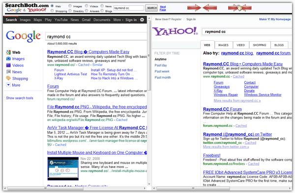 Поиск нескольких поисковых систем