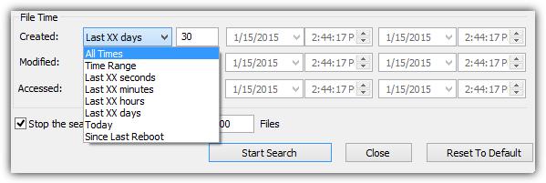 searchmyfiles параметры поиска