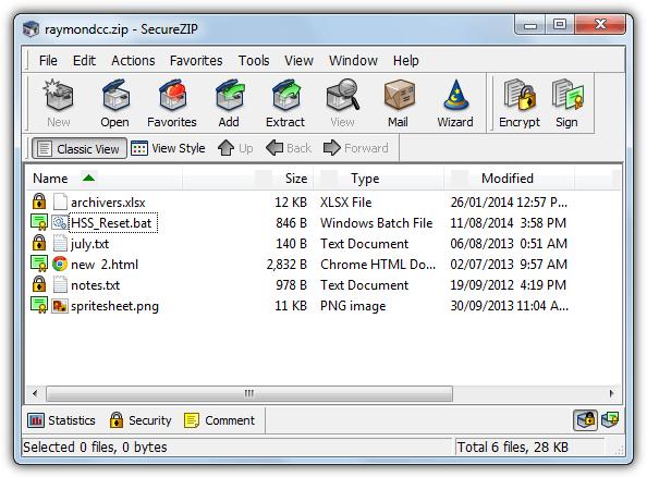 главный интерфейс securezip