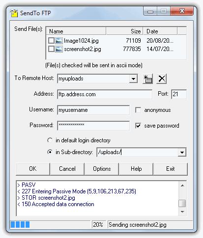 SendTo FTP