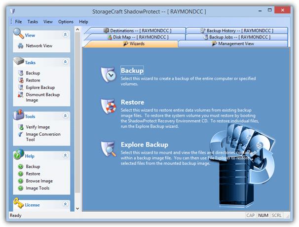 хранилище данных shadowprotect