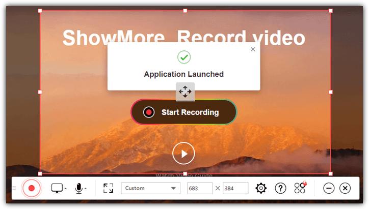 запущено приложение showmore