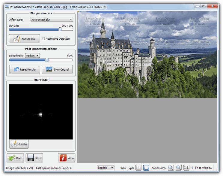 условно-бесплатное программное обеспечение smartdeblur 2